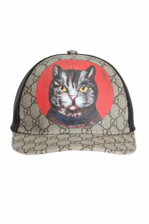 Cat motif baseball cap od Gucci