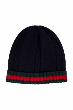'web' stripe hat od Gucci Kids