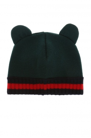 Ear-appliqued hat od Gucci Kids