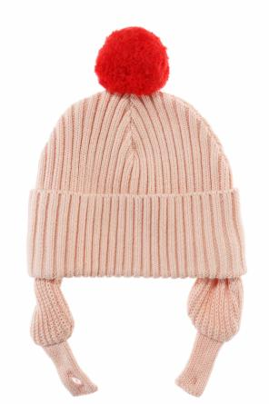 Pompom hat with ear flaps od Stella McCartney Kids