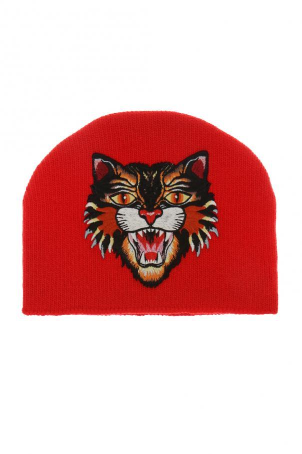 Cat head-patched hat Gucci Kids - Vitkac shop online 041b41ef550d