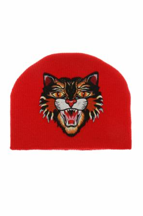 Cat head-patched hat od Gucci Kids