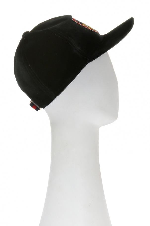 4ea8482f Velvet baseball cap Gucci - Vitkac shop online