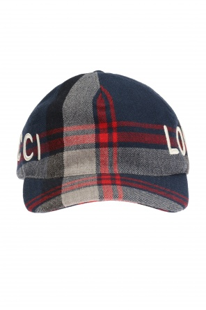 Checked baseball cap od Gucci