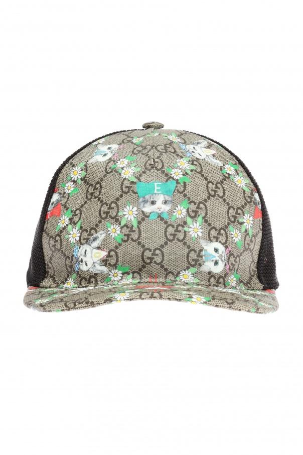 Mesh-trimmed baseball cap Gucci Kids - Vitkac shop online b5194774f3c1