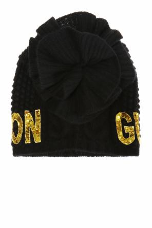 Sequinned lettering hat od Gucci