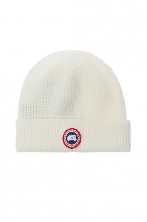 Rib-knit hat with logo od Canada Goose