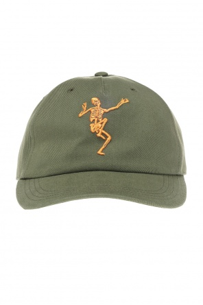 Baseball cap with skeleton od Alexander McQueen