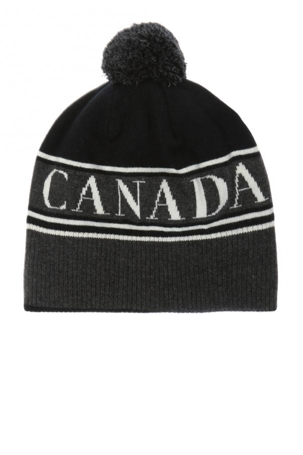 Canada Goose Wool hat with a logo