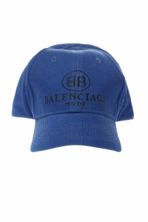 Embroidered logo baseball cap od Balenciaga