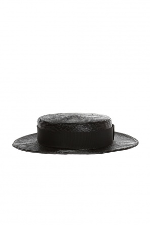 Hat with grosgrain band od Saint Laurent