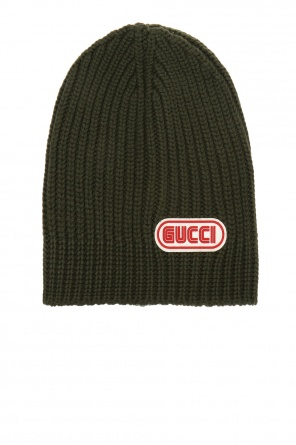 Woven hat with a logo od Gucci