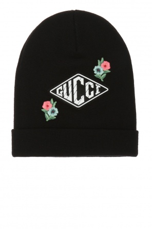 Logo-embroidered hat od Gucci Kids