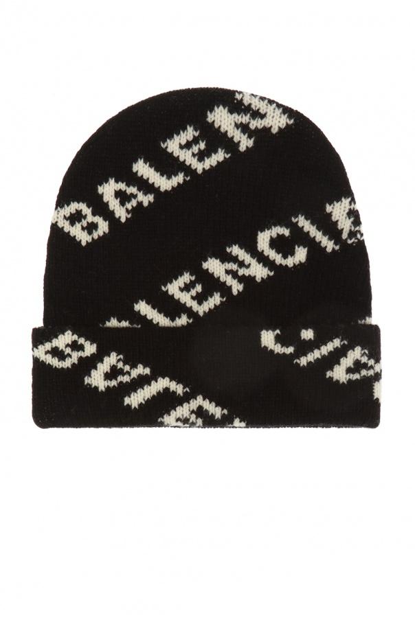 Wool Hat With Logo by Balenciaga