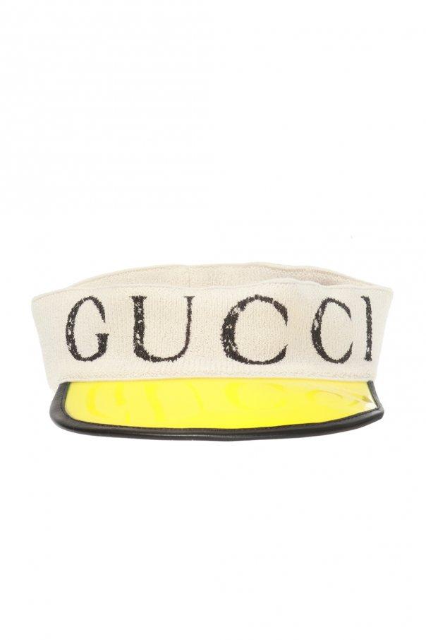 Gucci Daszek na głowę z logo