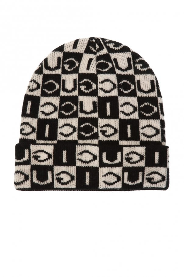 Hat with logo pattern od Gucci