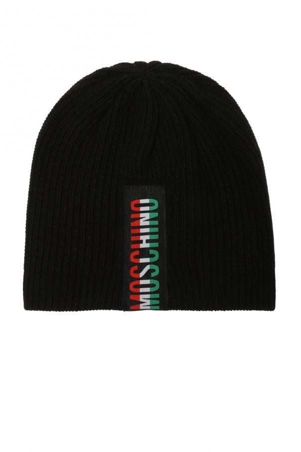 b0247024b4c69 Ribbed hat with logo Moschino - Vitkac shop online