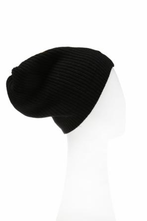 Ribbed hat with logo od Moschino