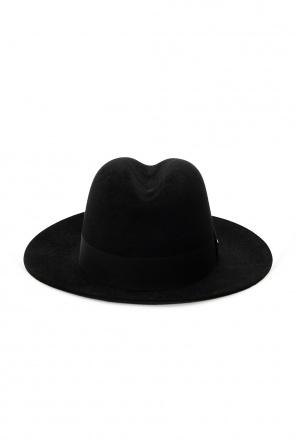 Hat with grosgrain ribbon od Saint Laurent