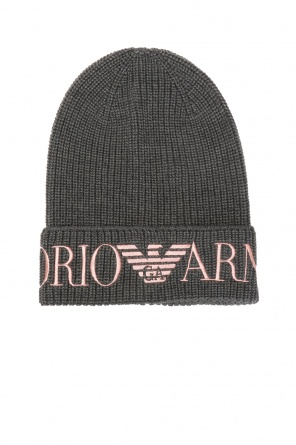 Logo-embroidered hat od Emporio Armani