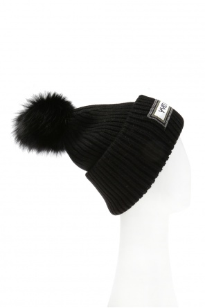 Branded wool hat od Yves Salomon