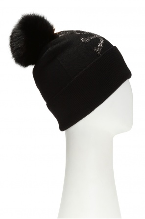 Wool hat with pompom od Philipp Plein