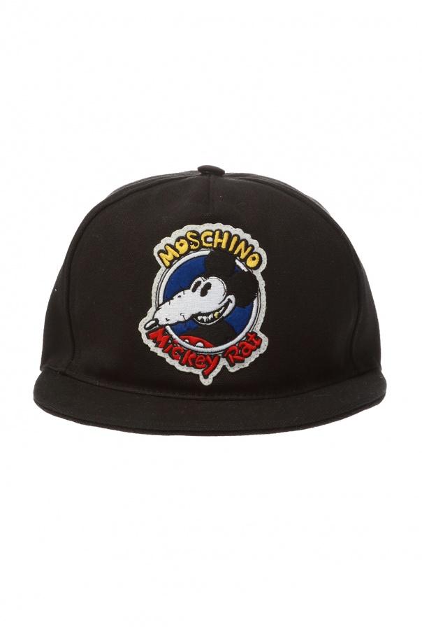 Moschino Baseball cap with 'Mickey Rat' motif