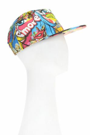 Patterned snapback cap od Moschino
