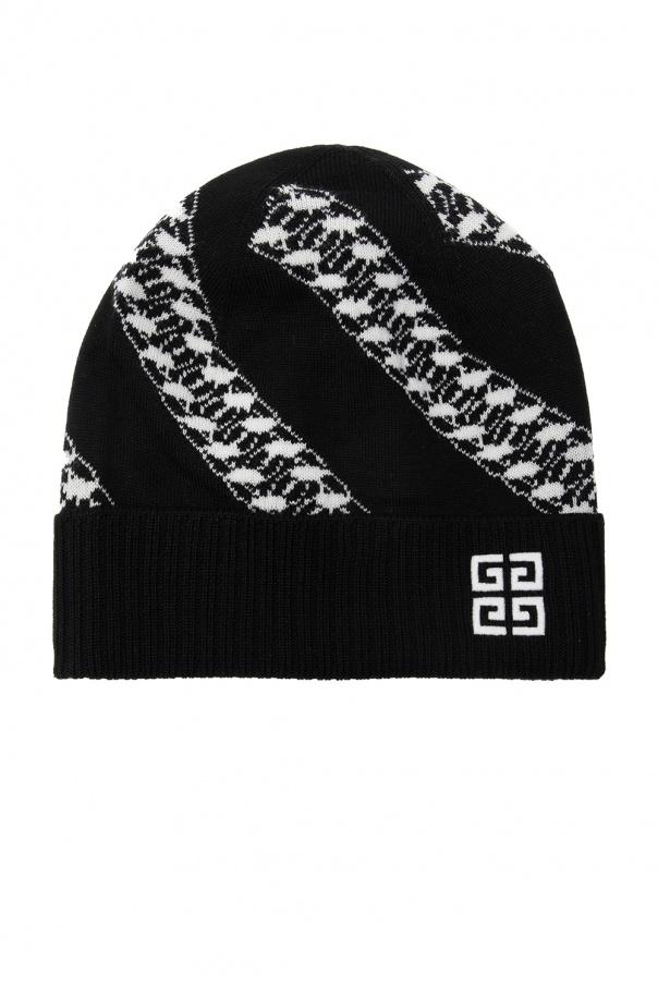 Givenchy Prążkowana czapka z logo