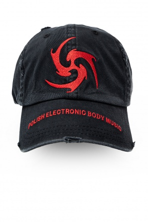 'biohazard' baseball cap od MISBHV