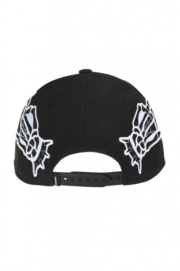 Embroidered lettering baseball cap od Diesel