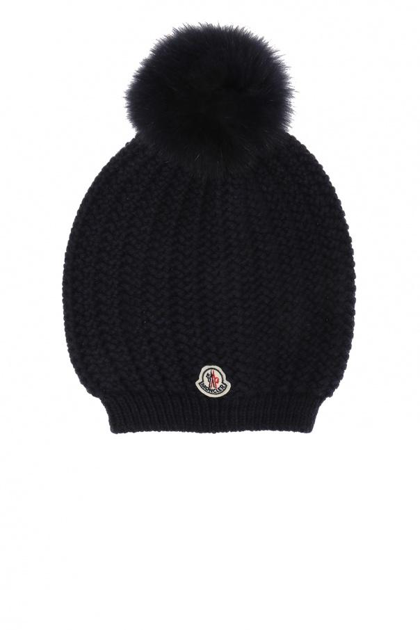 8c82d104e63 Fox fur pompom hat Moncler - Vitkac shop online