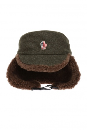 Hat with fur trimming od Moncler Grenoble