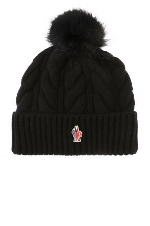 Hat with marmot fur pompon od Moncler Grenoble