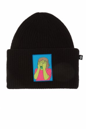 Patched wool hat od Marcelo Burlon