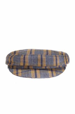 Checked flat-topped hat od Isabel Marant