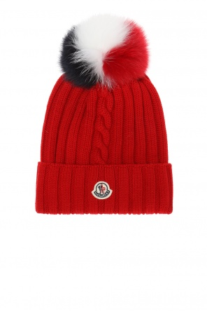 Braided hat with pompom od Moncler