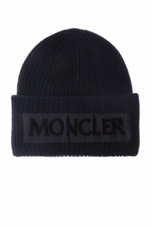 Wool hat with logo od Moncler