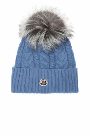 Hat with fur pompom od Moncler