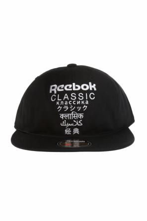 Embroidered lettering baseball cap od Reebok