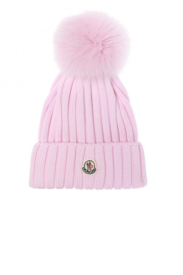 Braided hat with a pompom Moncler - Vitkac shop online 340781b0f019