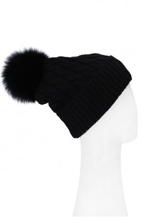 Hat with fur pom-pom od Moncler Grenoble