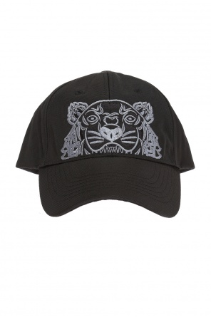 Embroidered tiger head baseball cap od Kenzo
