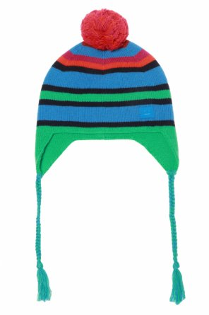 Patterned pompom hat od Acne