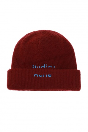 Wool hat with logo od Acne