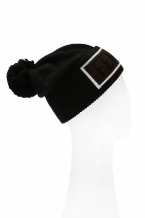 Hat with an embroidered logo od Fendi