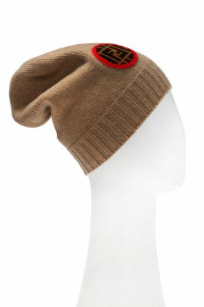 Hat with round patch od Fendi