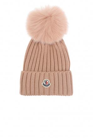 Hat with pompom od Moncler