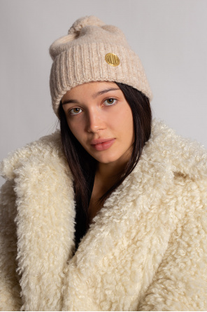 Wool hat with logo od Golden Goose