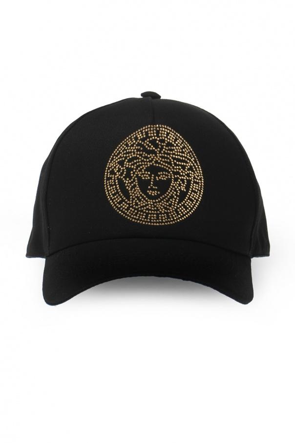 Versace Embellished baseball cap